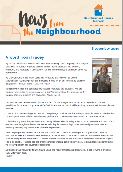 Newsletter Nov 19