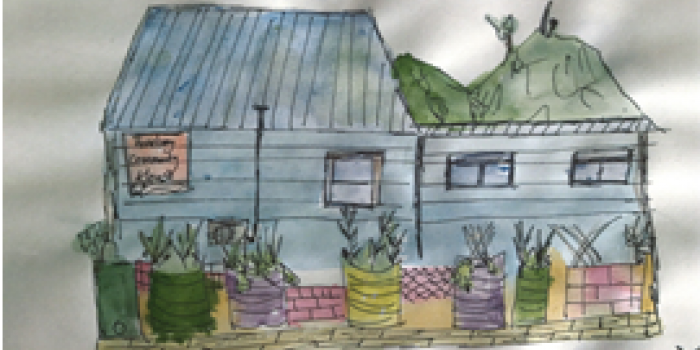 Hand drawn image of a Roebery Community House