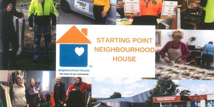 Collage of images relating to Starting Point Neighbourhood House