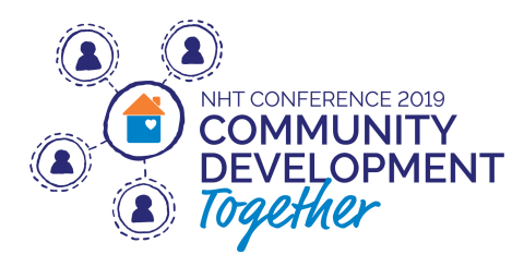 2019 NHT Conference logo - Community Development together
